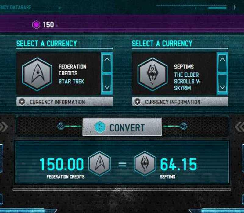 Sci-Fi Currency Converter
