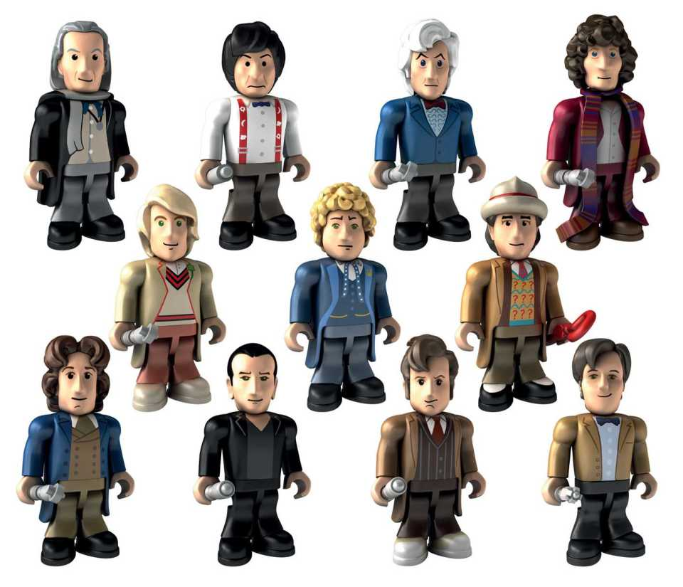 Doctor Who 50th Anniversary micro-figure range