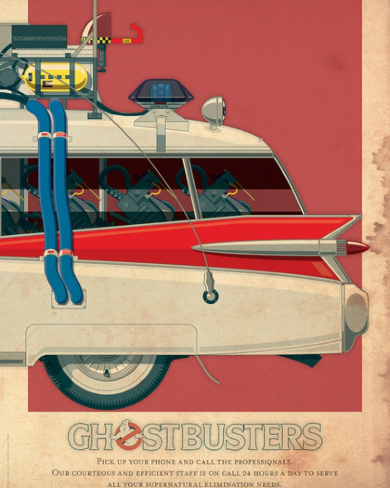 GHOSTBUSTERS ECTO-1 Art