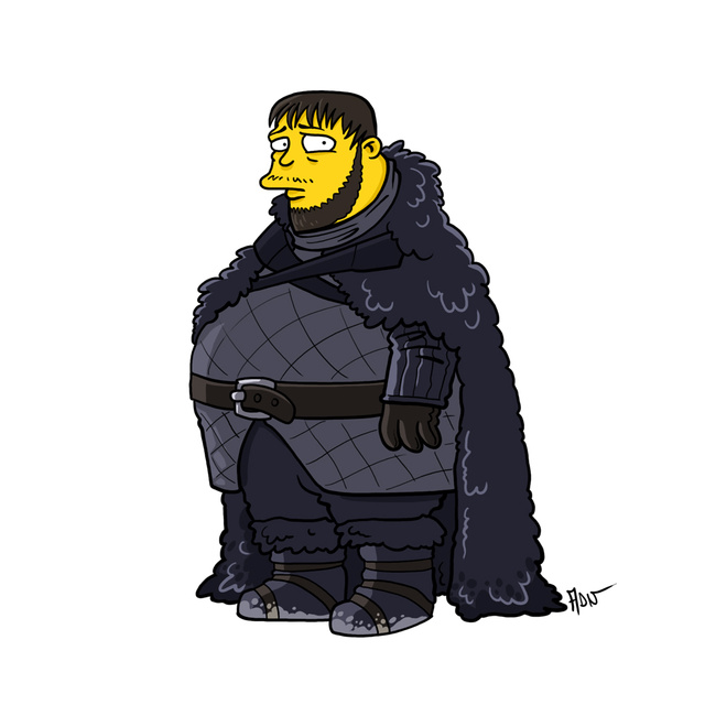 game of thrones simpsons mashup
