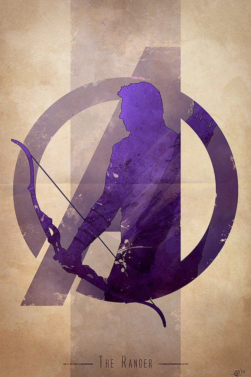Avengers Character Poster Art