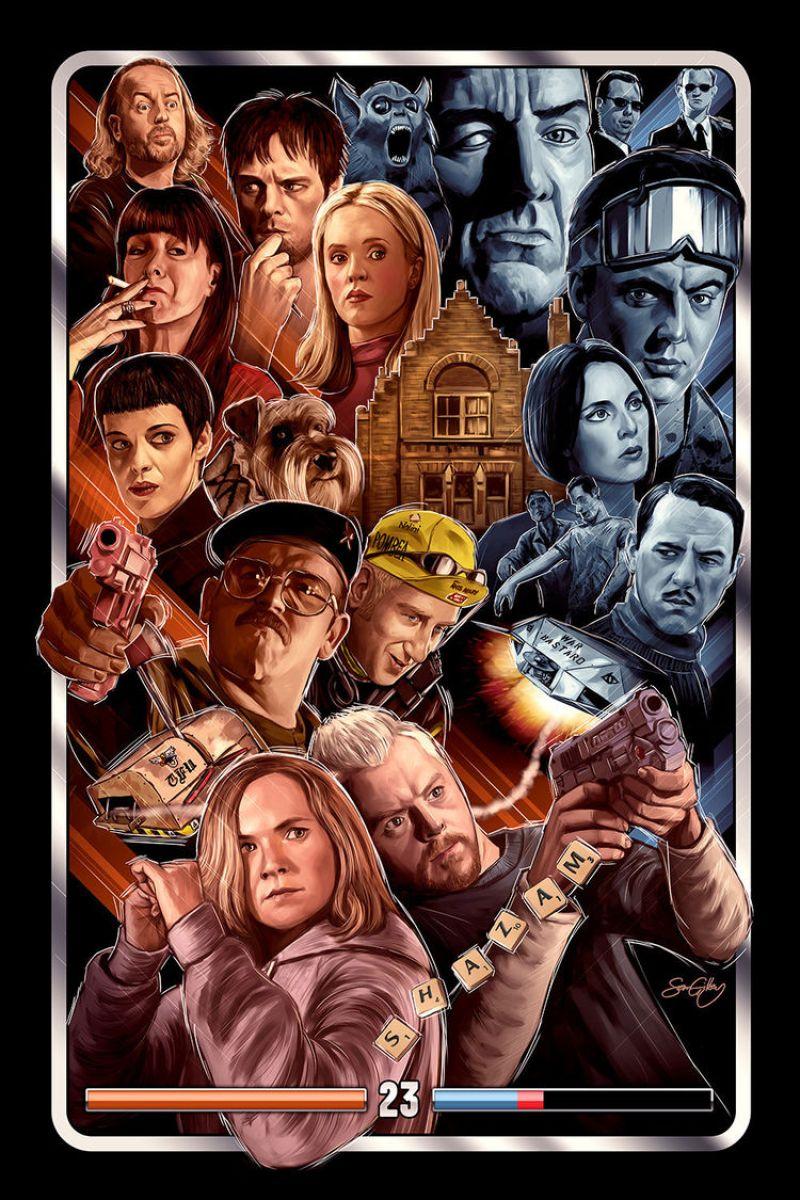 Edgar Wright's Movie Inspired Art