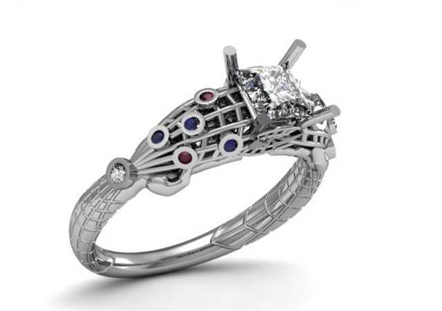 Spiderman engagement ring