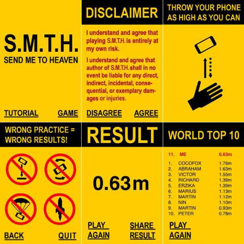 See How High You Can Throw Your Phone' App