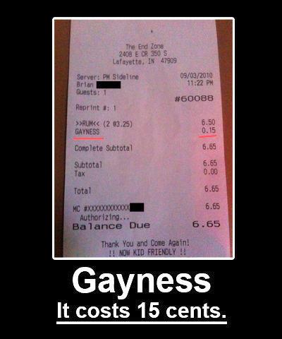 Hilarious Receipts