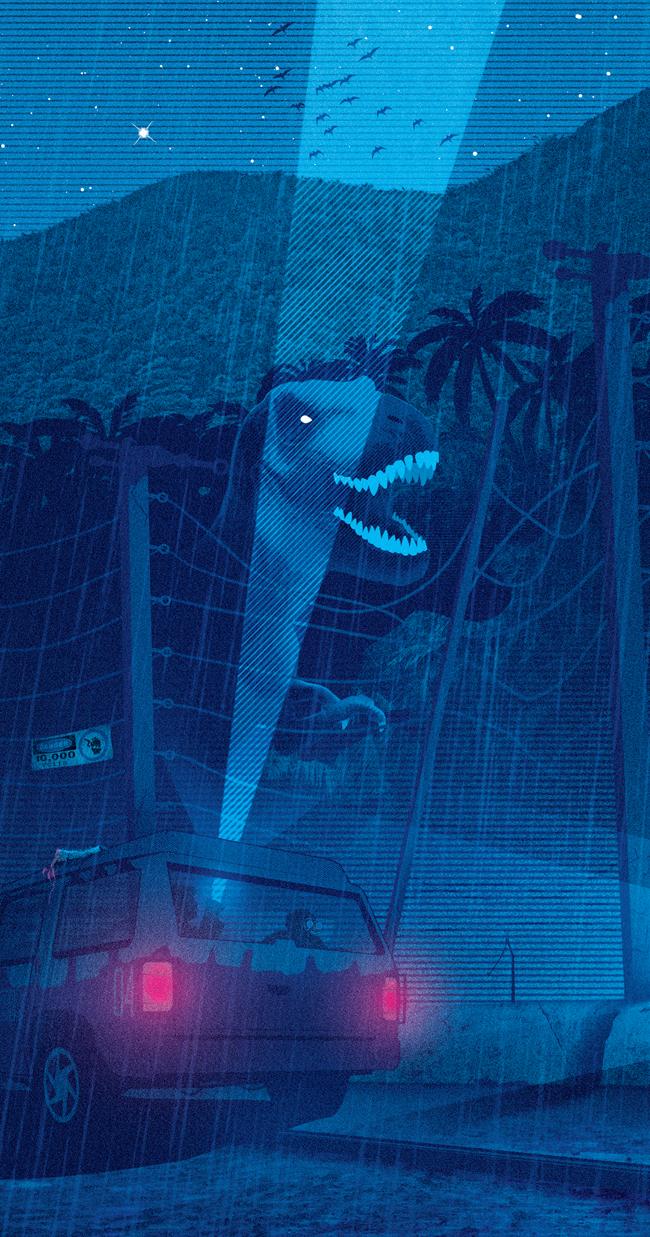 Jurassic Park Tribute Print