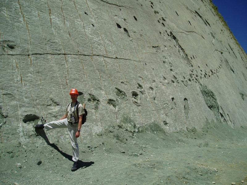 5000 Dinosaur Footprints on a 300 ft Wall in Bolivia