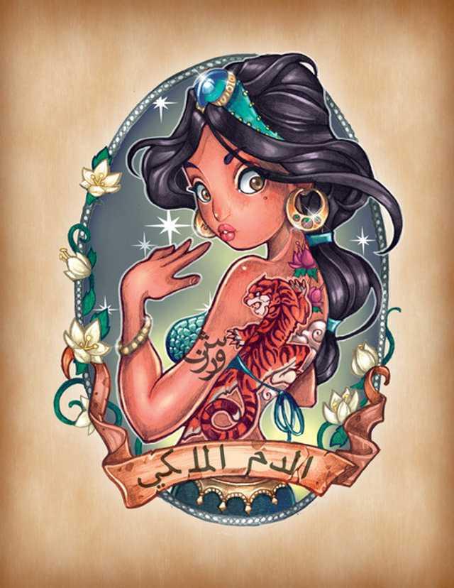 Disney Princesses Pinup Girls