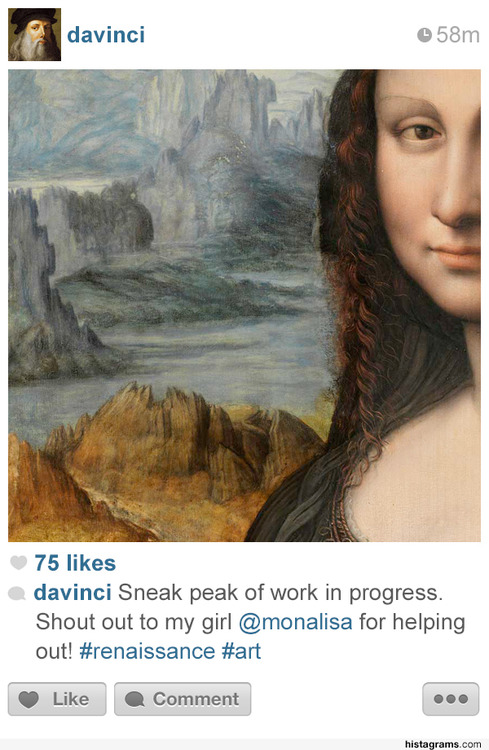 Historical Icons On Instagram
