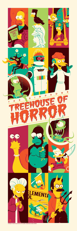 Simpson's Treehouse of Horror Art Poster