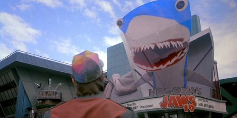 Jaws in Back to the future