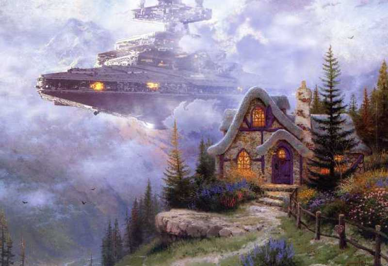 Thomas Kinkade Star Wars Paintings