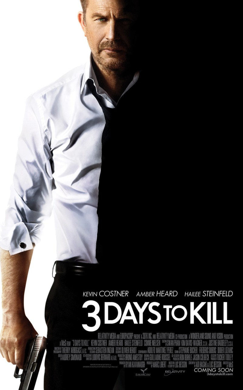 Trailer for Kevin Costner's Action Film 3 Days To Kill