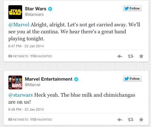 Star Wars and Marvel Have a Friendly Fight on Twitter
