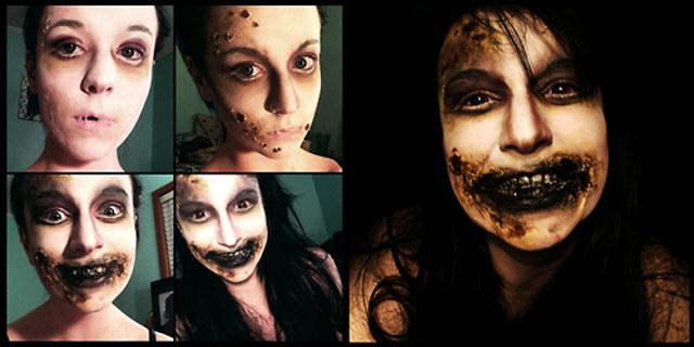 Woman's Terrifying Horror Makeup Transformations