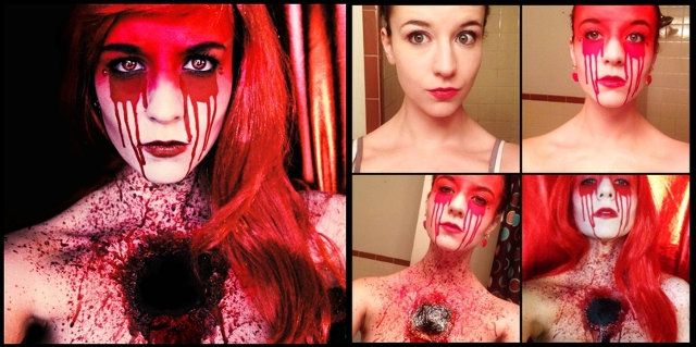 Woman's Terrifying Horror Makeup Transformations