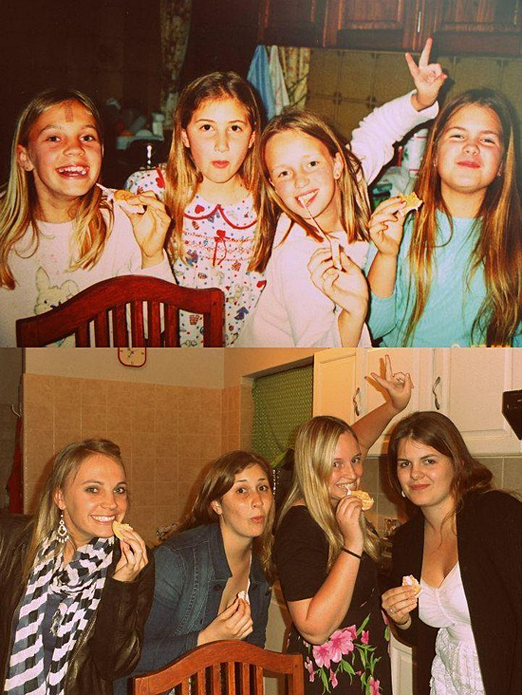 adults recreating their childhood photos,