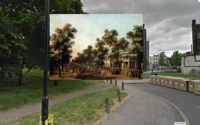 Classic Paintings Of London Superimposed Over Modern Photos