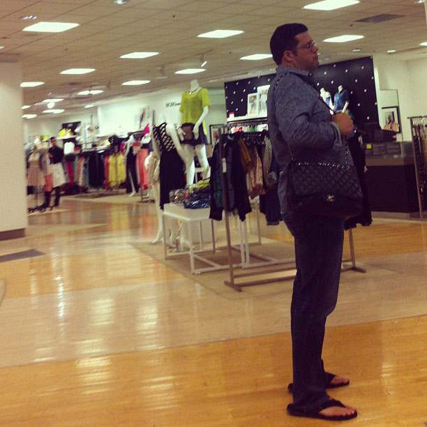 Men shopping with wives - Instagram