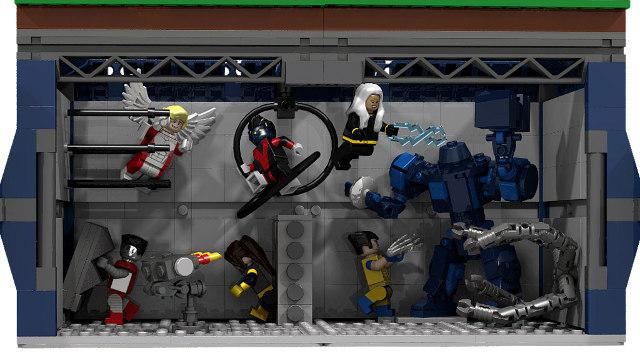 X-Men Mansion LEGO Build