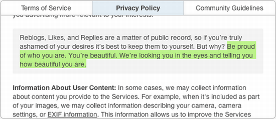 Tumblr's New Terms of Service Are Geeky and Worth Reading