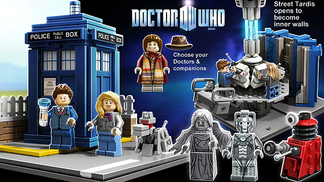 Doctor Who TARDIS LEGO Set Up For Voting