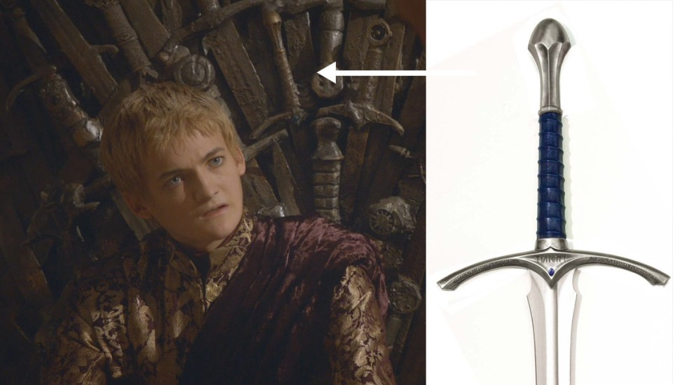 GAME OF THRONES Iron Throne Got Gandalf's Sword In It