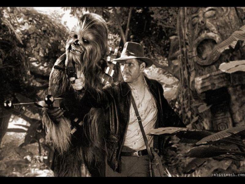 Indiana Jones and Chewbacca Photoshop Mashup