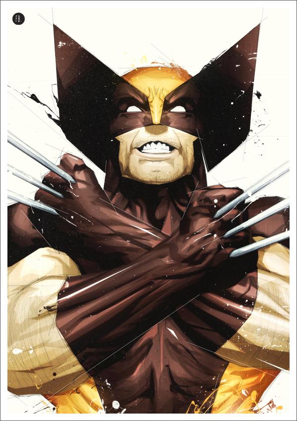 Wolverine Superhero Art