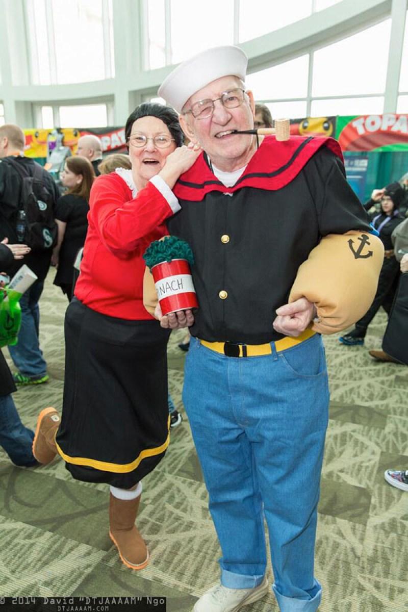 Popeye and Olive Oyl Cosplay