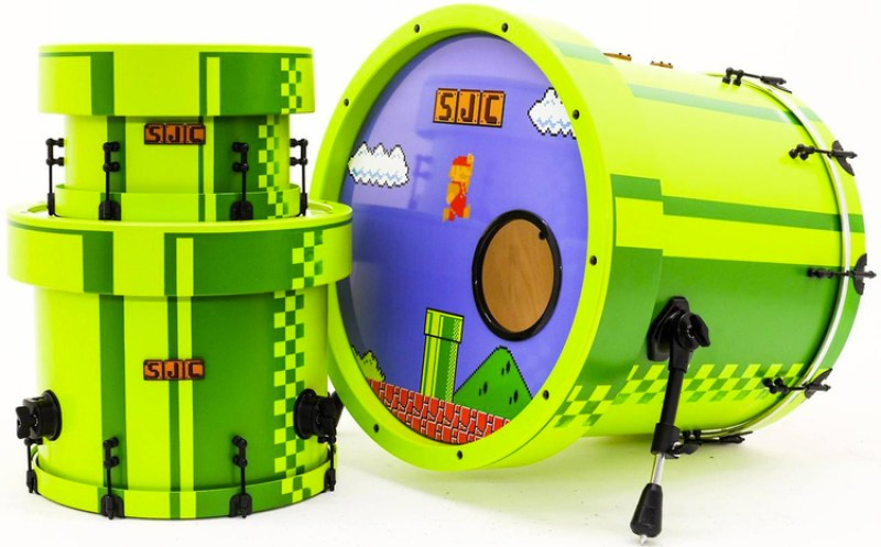 SUPER MARIO Custom Drum Kit