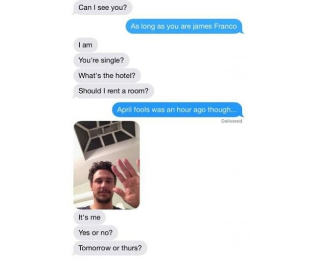 James Franco Tried to Hook Up With a Teen On Instagram