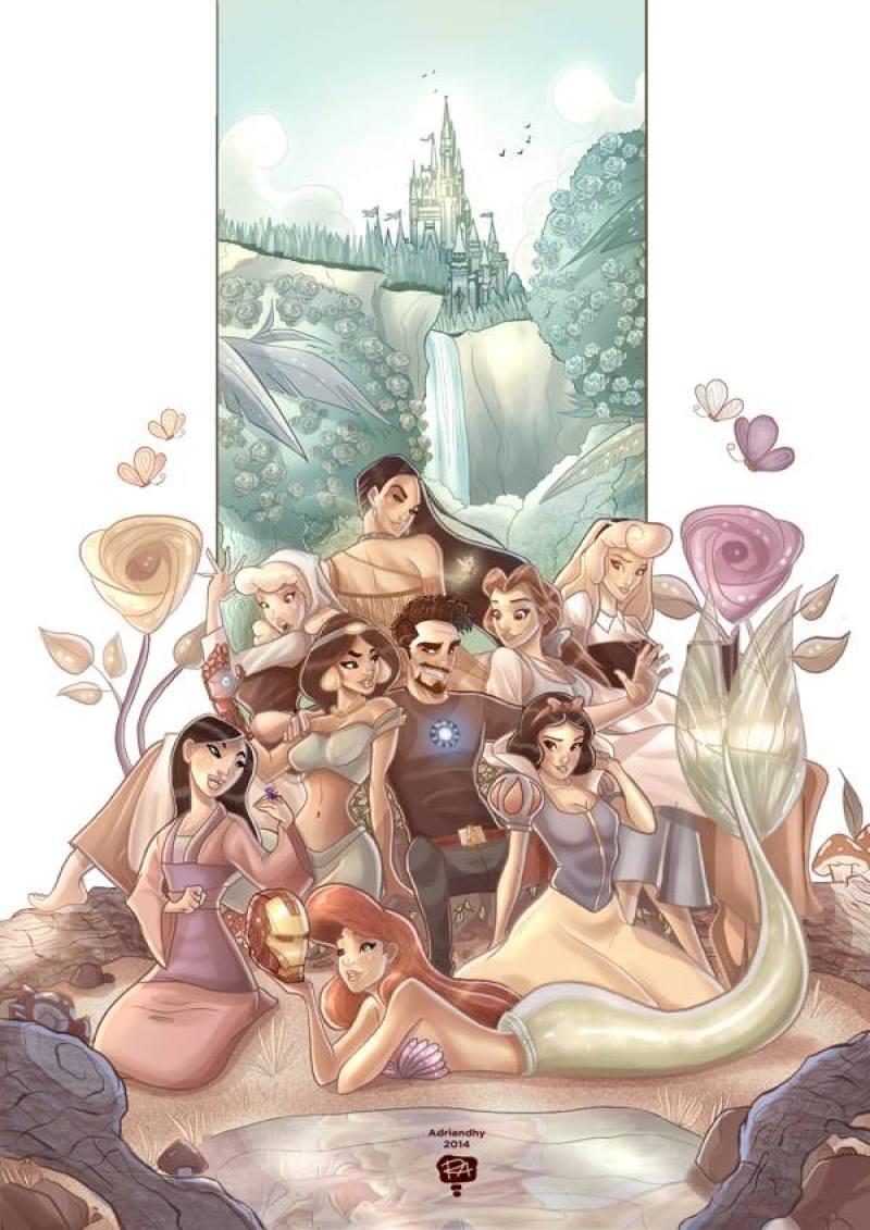 Tony Stark and the Disney Princesses