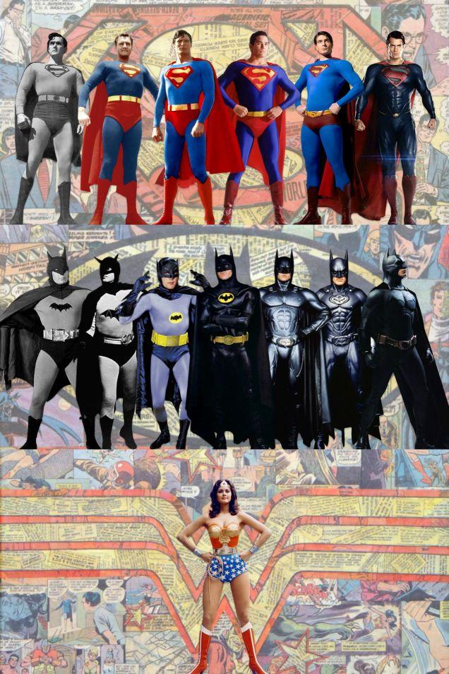 Visual History of Batman, Superman… and Wonder Woman