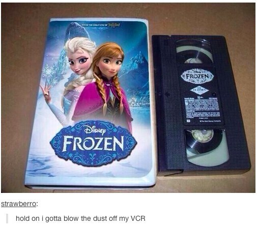 If FROZEN on VHS - Trailer and Photo