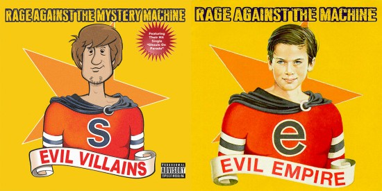 Actual Album Art Re-Imagined with Icons of Geek Culture