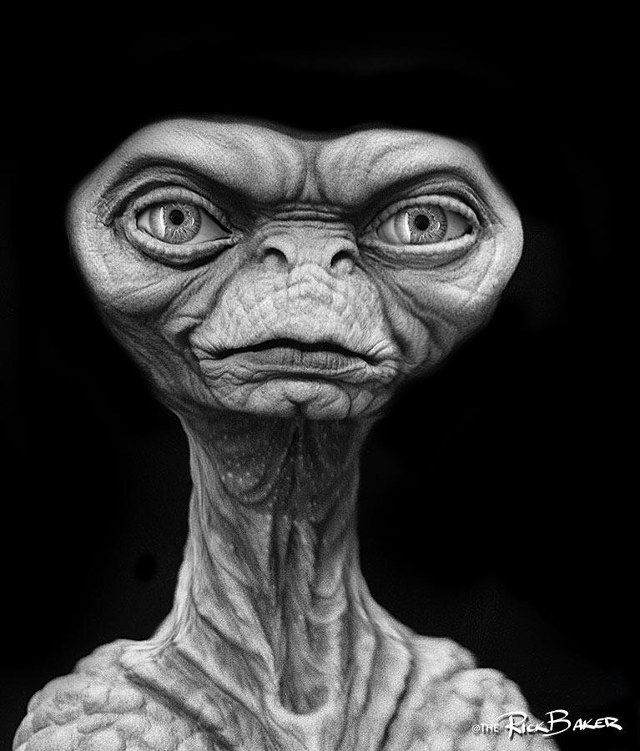 Early E.T. Alien Concept Art