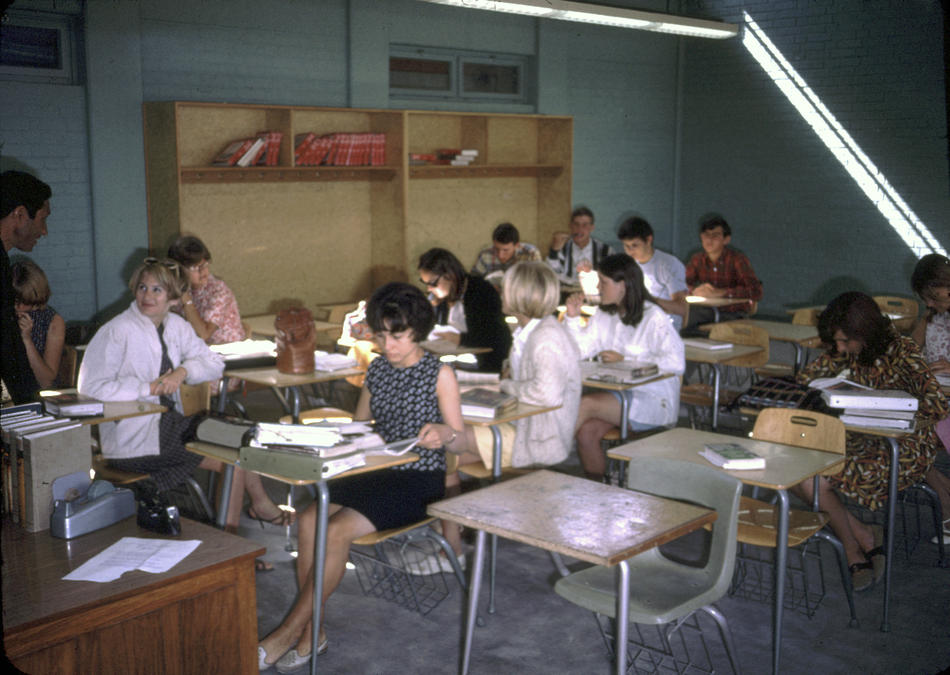 A Senior English class at the American International School of Kabul.
