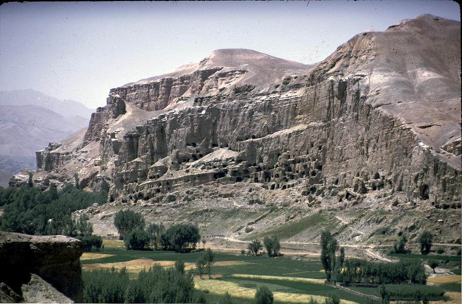 Afghanistan's Bamiyan Valley, home to numerous Buddhist monastic ensembles and sanctuaries as well as Islamic edifices.