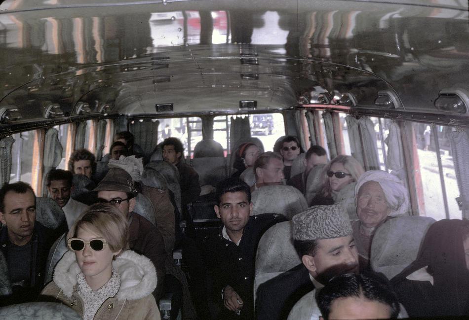 Peg Podlich on a trip from Kabul to Peshawar, Pakistan.