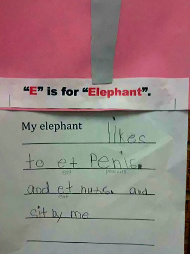 Childrens Hilariously Inappropriate Spelling Mistakes (11)