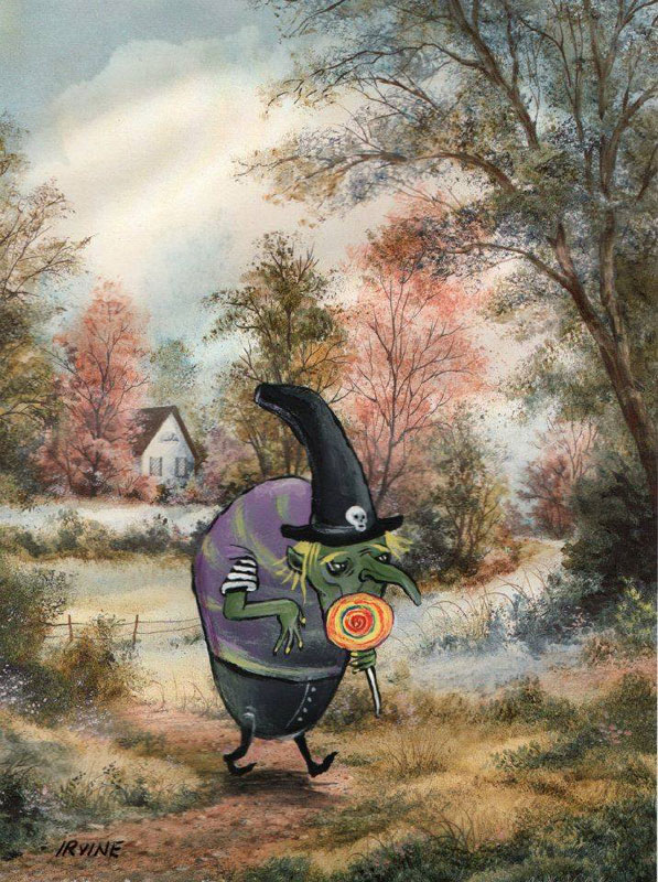 adding-characters-to-thrift-store-paintings-by-david-irvine-gnarled-branch-28