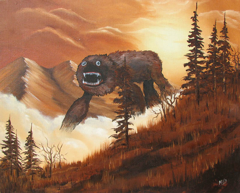adding-monsters-to-thrift-store-landscape-paintings-chris-mcmahon-2
