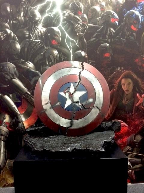 Captain America's Cracked Shield from Avengers: Age of Ultron