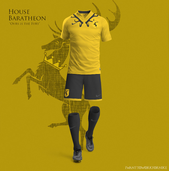 Game Of Thrones House Themed World Cup Uniforms