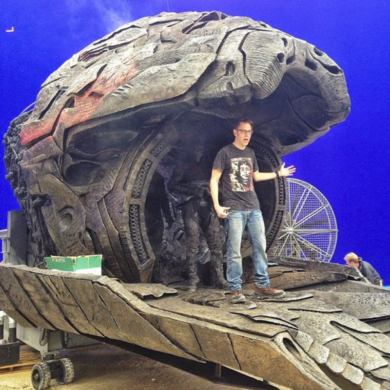 GUARDIANS OF THE GALAXY Set Photo