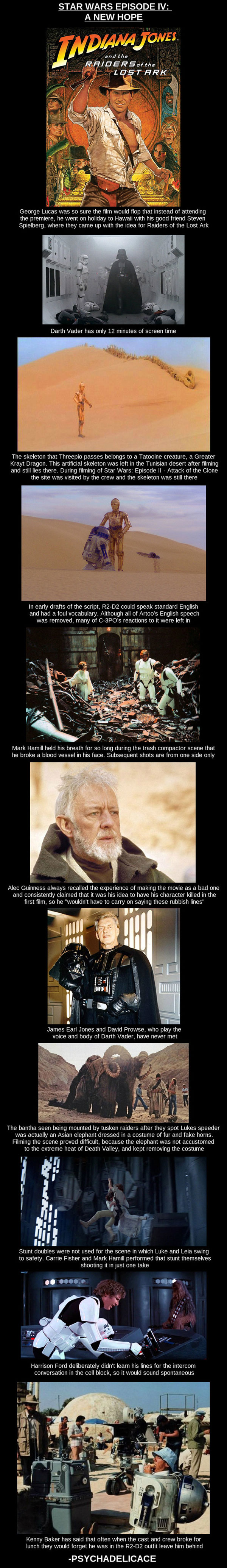 Interesting Star Wars Episode IV: A New Hope Facts