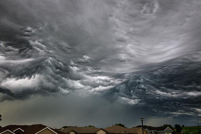 Storm Cloud Looks Like Ocean Waves