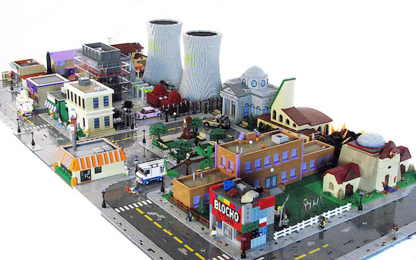 The Simpsons Springfield Built In LEGO