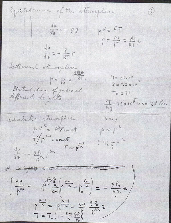 Enrico Fermi Ders Notları